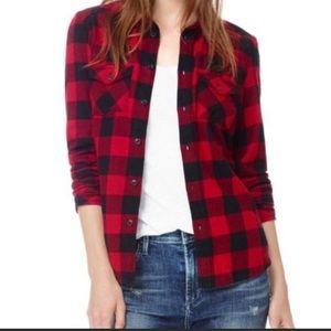 TNA aritzia plaid flannel shirt